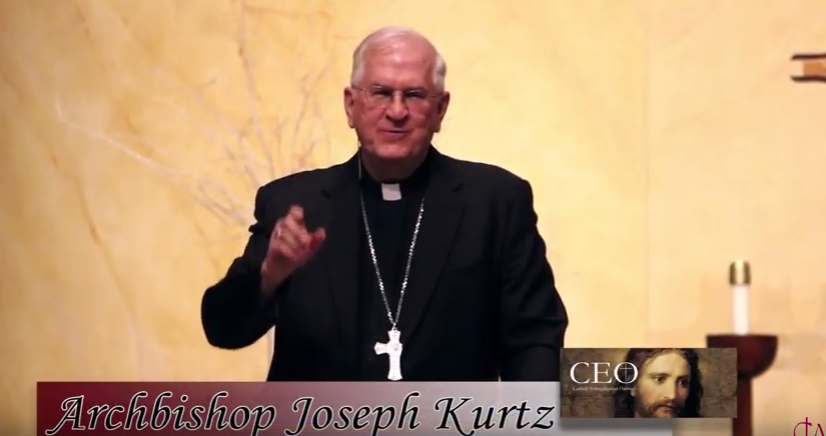 Archbishop Joseph Kurtz witnesses at Louisville CEO.